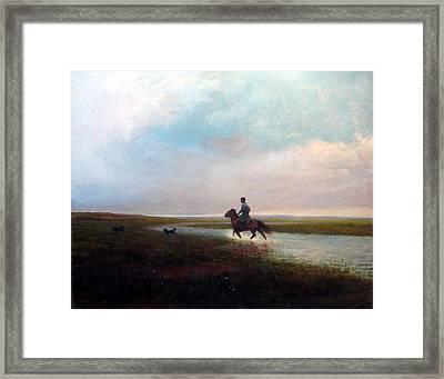 Landscape Framed Print by Ji-qun Chen