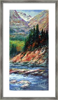 Framed Print featuring the painting Landscape by Laila Awad Jamaleldin