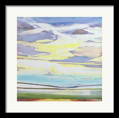 Sun Breaking Through Clouds Mixed Media Framed Prints