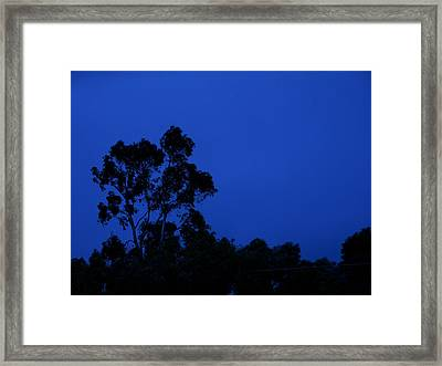 Framed Print featuring the photograph Blue Landscape by Mark Blauhoefer