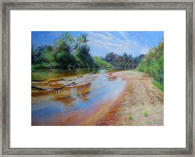 Landscape Framed Print by Nancy Stutes