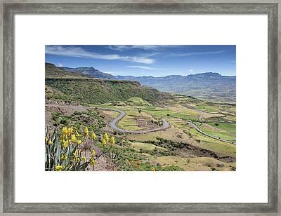Landscape Near Lalibela Framed Print