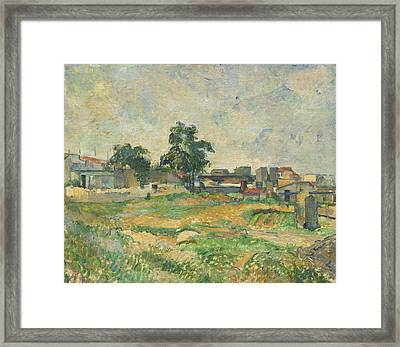 Landscape Near Paris Framed Print by Paul Cezanne