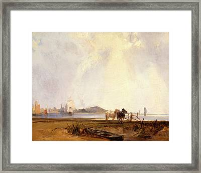 Landscape Near Quilleboeuf, France Near Quilleboeuf Framed Print by Litz Collection