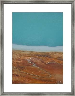 Landscape Of A Hot Spring Framed Print by Sarah Crites