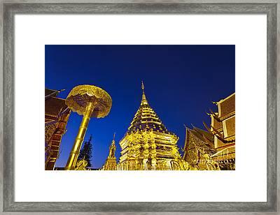 Landscape Of Big Pagoda Framed Print by Anek Suwannaphoom