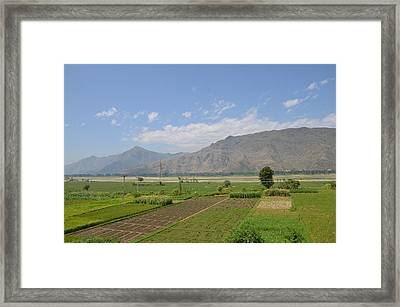 Framed Print featuring the photograph Landscape Of Mountains Sky And Fields Swat Valley Pakistan by Imran Ahmed