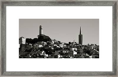 Landscape Of San Francisco Framed Print by Alex King