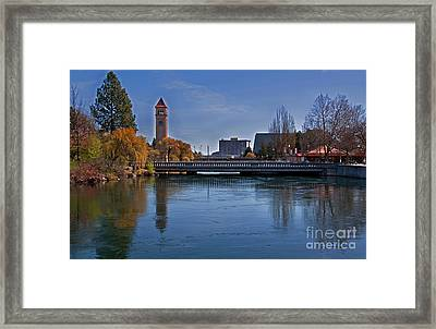 Framed Print featuring the photograph Landscape Of Spokane Wa Riverfront Park  by Valerie Garner