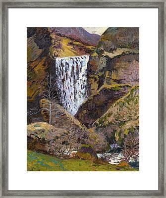 Landscape Of The Creuse Framed Print by Jean-Baptiste Armand Guillaumin