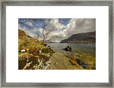 Landscape Of The Lake  Framed Print by Rob Hawkins