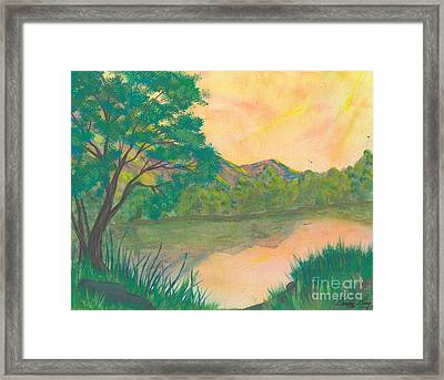 Landscape Of The Mind Framed Print