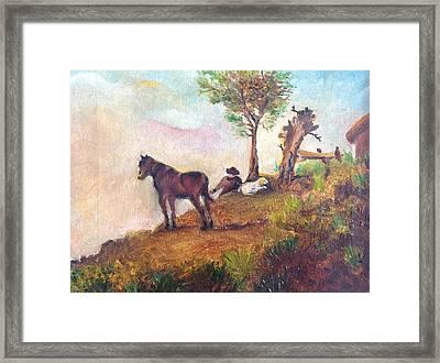 Landscape On A Ridge Framed Print