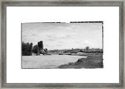 Landscape On A River Framed Print by Charles-Fran�ois Daubigny
