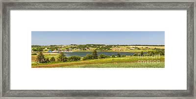 Landscape Panorama Of Prince Edward Island  Framed Print