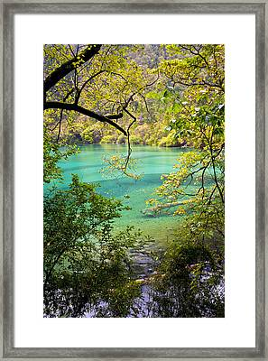 Landscape Photostories Of Tibet Jiuzhaigou Framed Print by Sundeep Bhardwaj Kullu sundeepkulluDOTcom