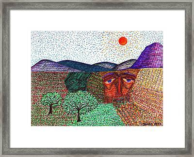 Landscape Framed Print by Sarah Loft