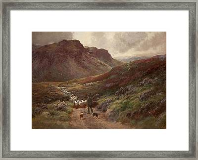 Landscape Framed Print by Stephen Enoch Hogley