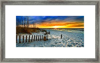 Landscape Sunrise Panorama Framed Print
