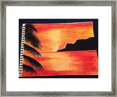 Landscape Sunset Framed Print by  Jessica Hope