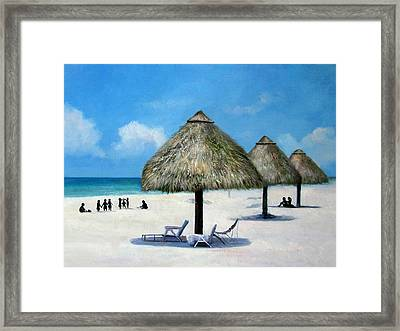 Landscape-the Beach Framed Print by Anny Huang