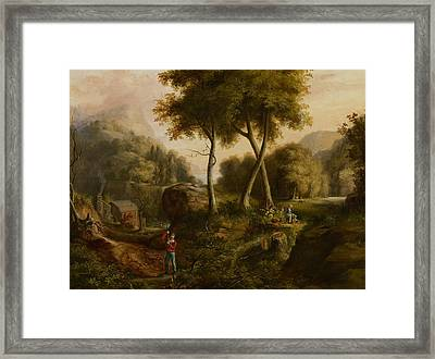 Landscape Framed Print by Thomas Cole