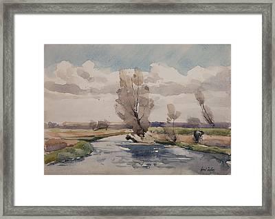Landscape Framed Print by Henri Duhem