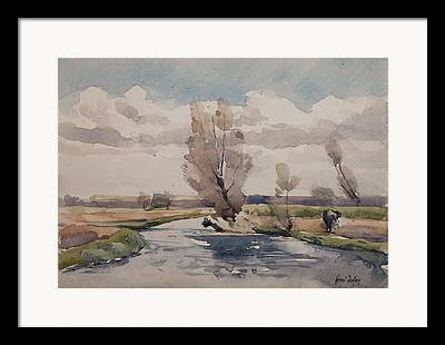 Country Scene Drawings Framed Prints