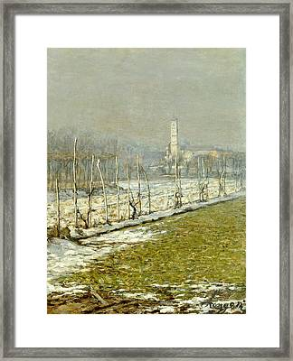 Landscape. Winter Sun Framed Print