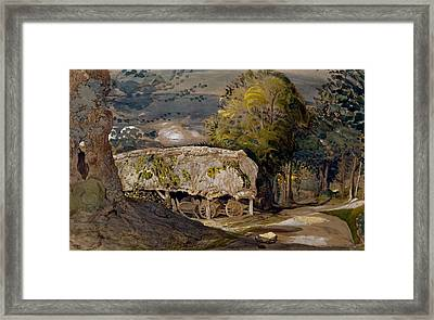 Landscape With A Barn, Shoreham, Kent Framed Print by Samuel Palmer