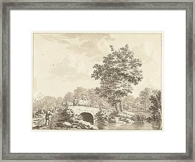 Landscape With A Cart On A Stone Bridge, Jan Bruyn Framed Print