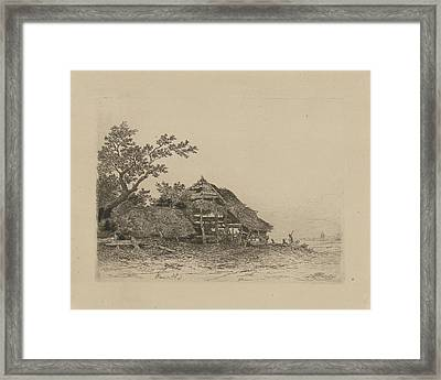 Landscape With A Dilapidated Shed, Remigius Adrianus Haanen Framed Print