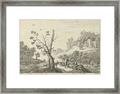Landscape With A Flute Player And A Shepherd Framed Print by Artokoloro
