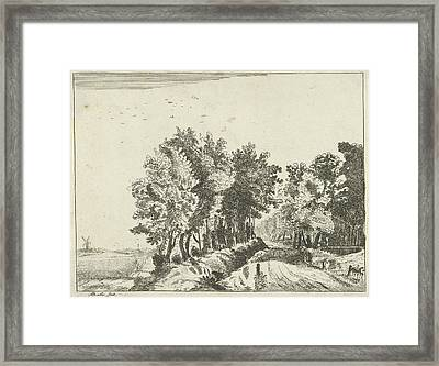 Landscape With A Hut On The Road, Anna Maria De Koker Framed Print by Anna Maria De Koker