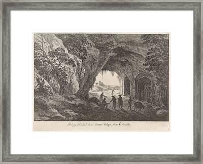 Landscape With A Tunnel, Print Maker Pieter Nolpe Framed Print by Pieter Nolpe And Adriaen Van Nieulandt I And Claes Jansz. Visscher Ii