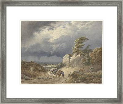 Landscape With Approaching Storm, Matthijs Maris Framed Print