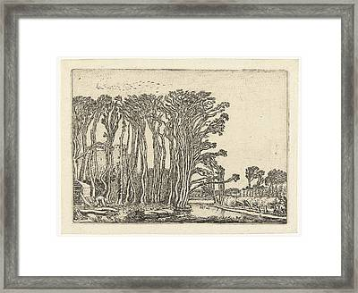 Landscape With Bare Trees At A Water Framed Print by Quint Lox