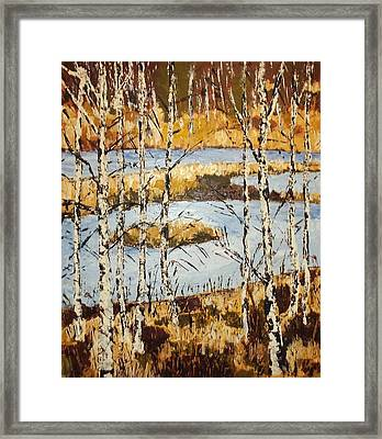 Landscape With Birches Framed Print