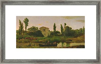 Landscape With Boat Framed Print