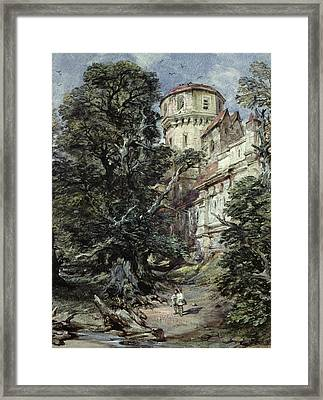 Landscape With Castle And Trees Framed Print by George Cattermole
