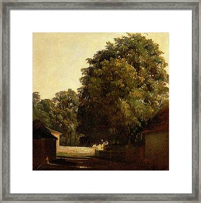 Landscape With Chestnut Tree, Peter Dewint Framed Print by Litz Collection