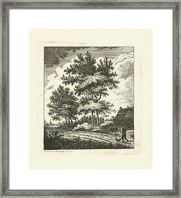 Landscape With Country Road, Johannes Van Cuylenburgh Framed Print by Artokoloro