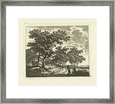 Landscape With Farm On Country Road, Johannes Van Framed Print by Artokoloro