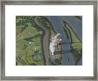 Landscape With Goddess Framed Print by Holly Wood