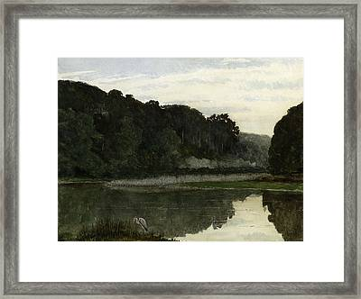 Landscape With Heron Framed Print by William Frederick Yeames