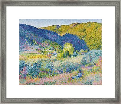 Landscape With Mountain Range Framed Print