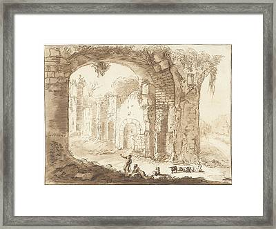 Landscape With Ruins, Jurriaan Cootwijck Framed Print