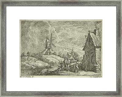 Landscape With Tavern And A Mill, Jan Lauwryn Krafft Framed Print by Quint Lox