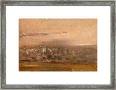 Landscape With Trees On A Slope, Unknown Artist Framed Print by Litz Collection
