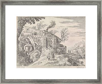 Landscape With Water Mill And The Good Samaritan Framed Print